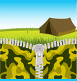 clasp openning nature vector image