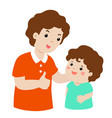 father admire son character cartoon vector image