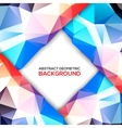 Geometric 3D background vector image vector image