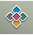 3d color pattern in arabic style vector image