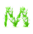spring flowers alphabet m vector image