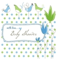 Cute baby shower vector image
