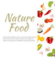 banner with vegetables in flat style vector image