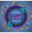 Card design style Happy Thanksgiving Day vector image