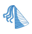 cartoon party hat striped decoration icon vector image