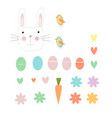 easter eggs and animals vector image