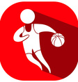 Sport icon design for basketball on red background vector image