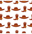 wild west cowboy cloth rodeo equipment vector image