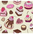 Cute cake Seamless background vector image