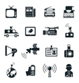 News and Media Icons vector image vector image