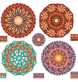 Round ornamental geometric Patterns vector image vector image