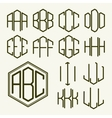 Set 1 template letters to create a monogram vector image