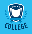 logo book and shield for college vector image