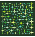 green yellow star collection over deep green vector image
