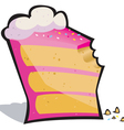 Cake bite vector image