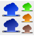 computer clouds bookmarks vector image vector image