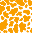 Cow spots yellow pattern vector image