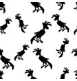 Parrot black and white pattern vector image