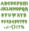 Slime alphabet isolated on white background vector image
