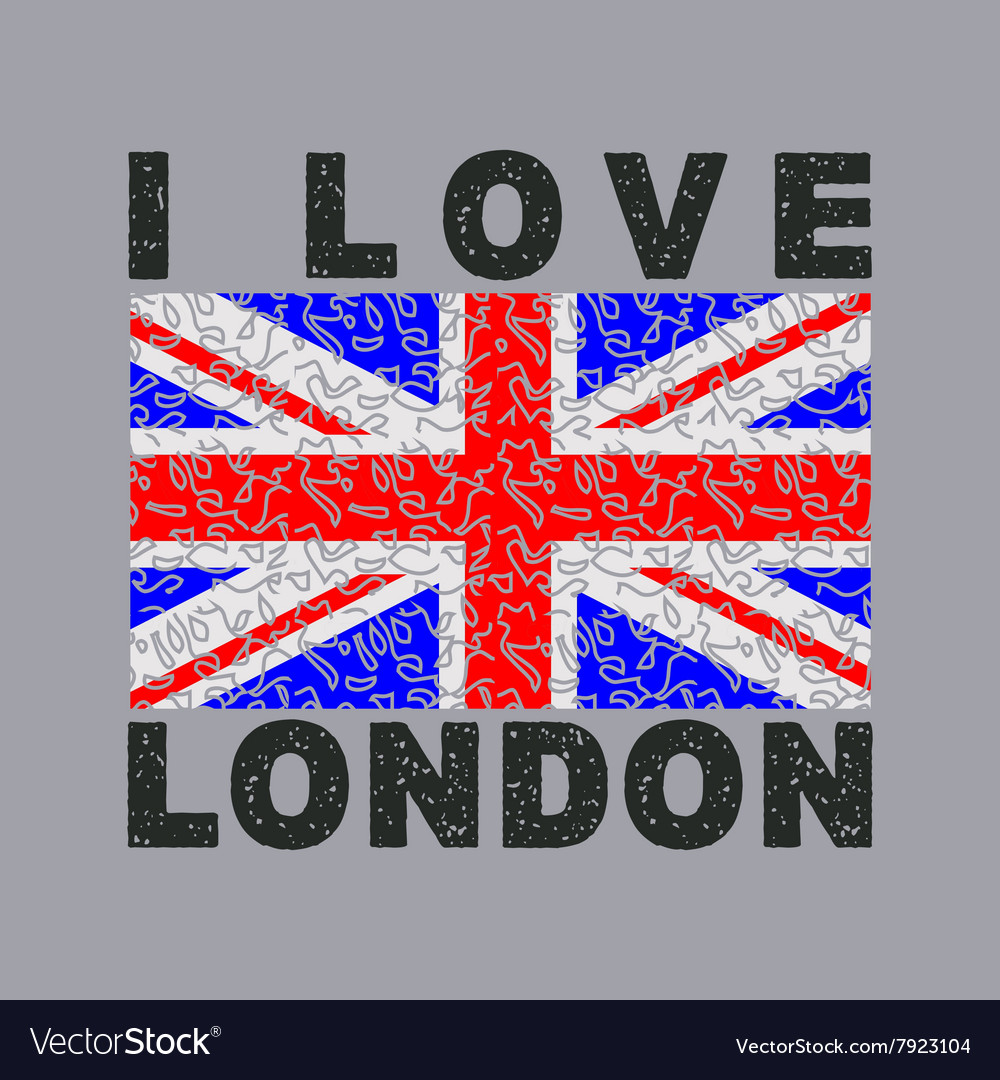 I love london city typography graphics vector