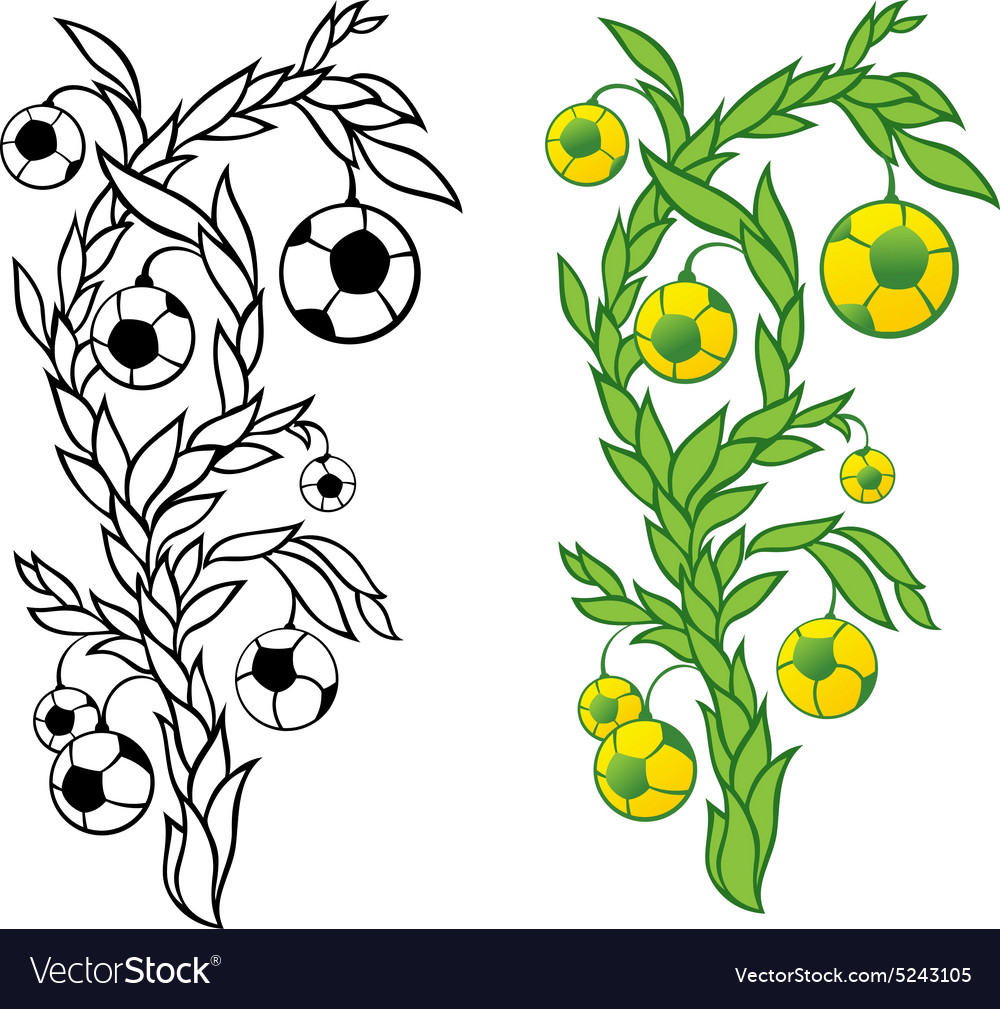 Football tree vector