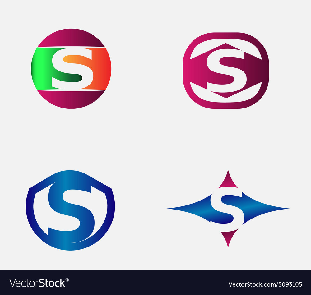 Letter s logo alphabet design element templ vector