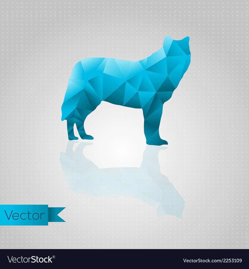Abstract triangular wolf vector