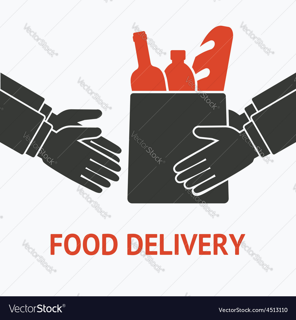 Concept for delivery food vector