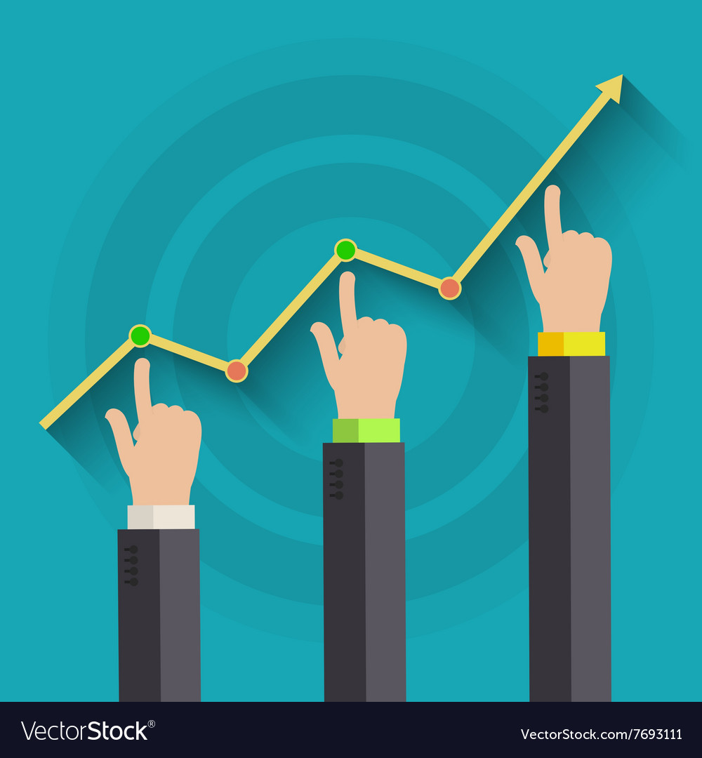 Concept of business success vector