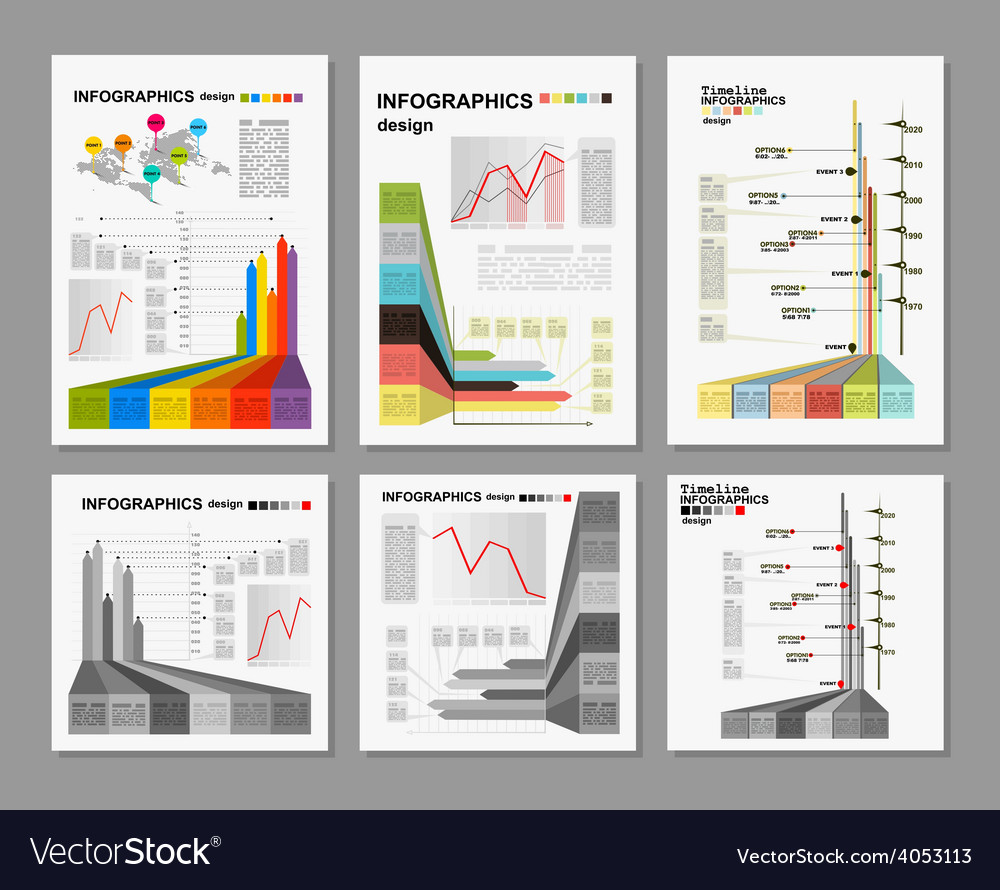 Conceptual blank  colorful infographics design vector
