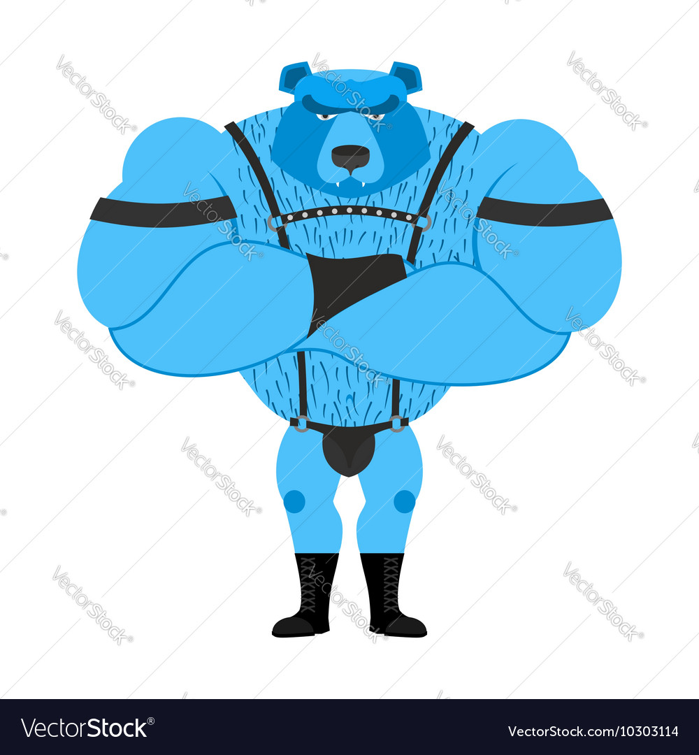 Gay bear symbol of sexual community big strong vector