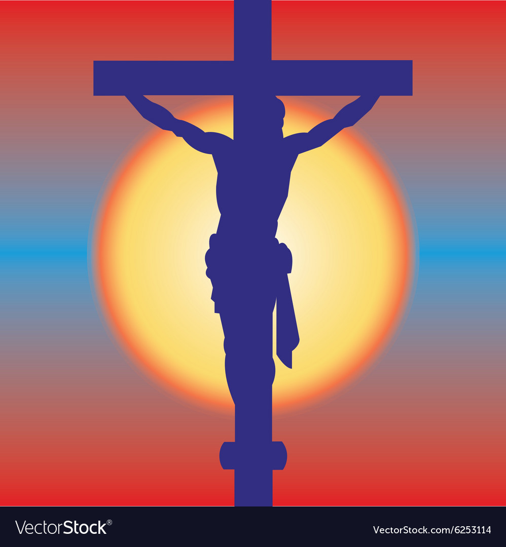 Jesus on a cross vector