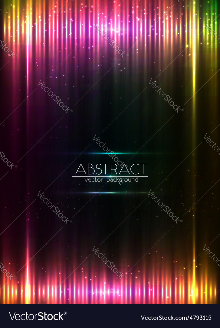 Red glowing lights abstract background vector