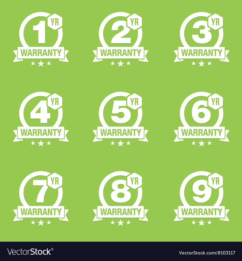 Warranty seal round badge vector