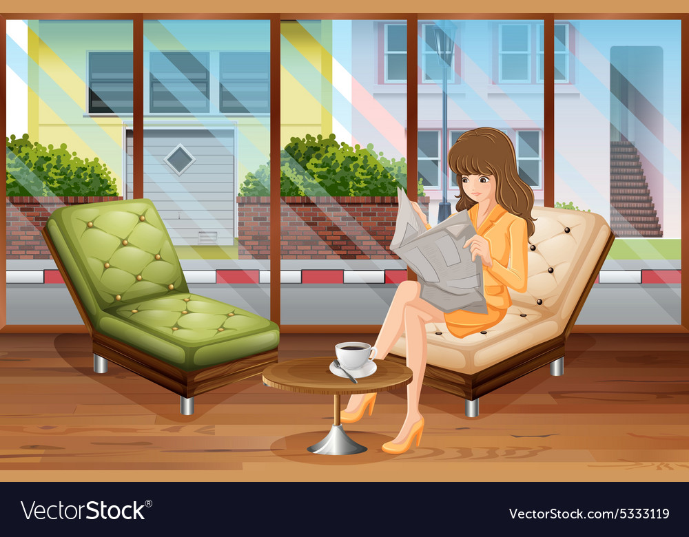 Woman reading vector