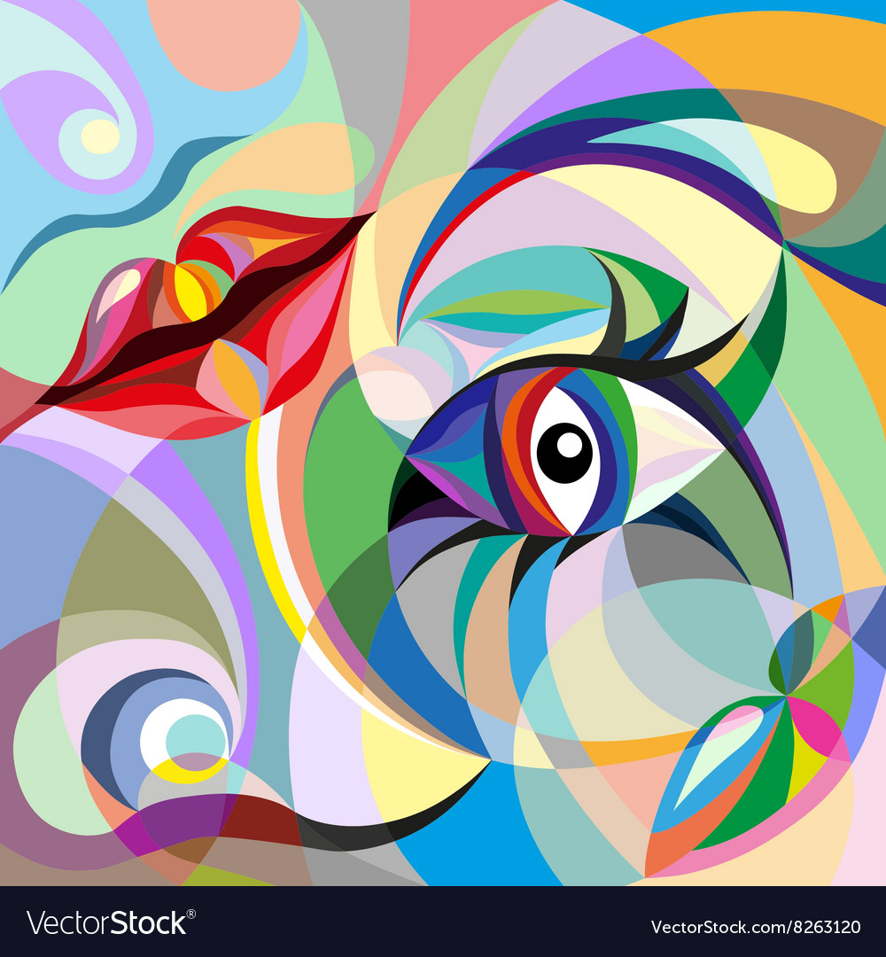 Abstract portrait of woman vector