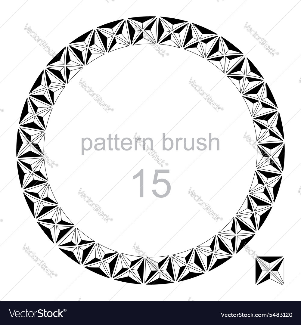 Round pattern decor frame vector