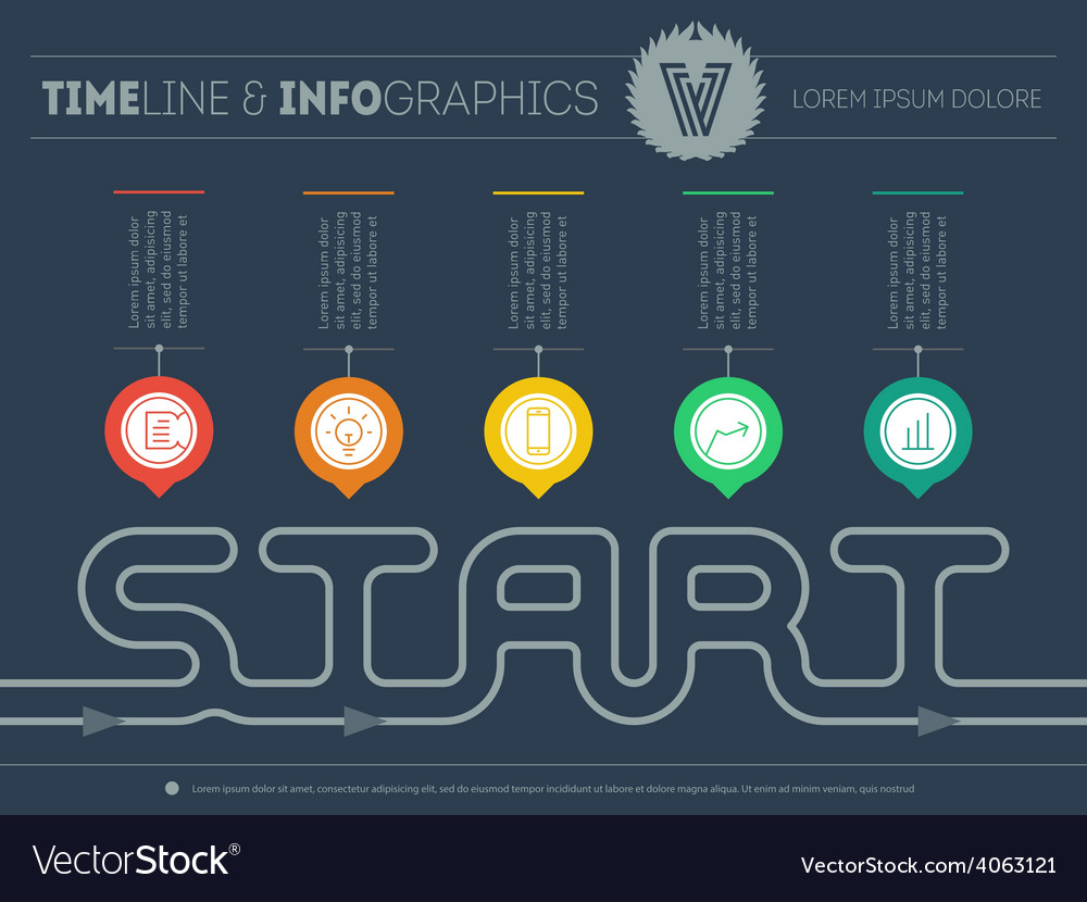 How to start your own business infographic vector