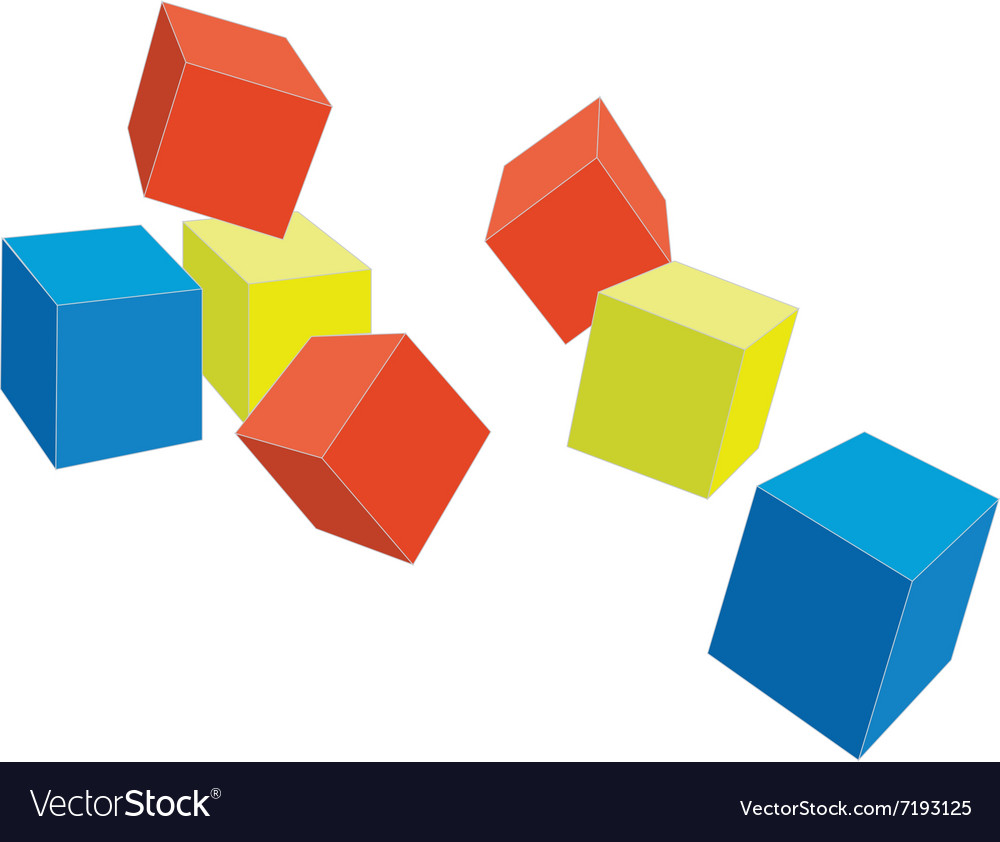 Cubes color 4 vector