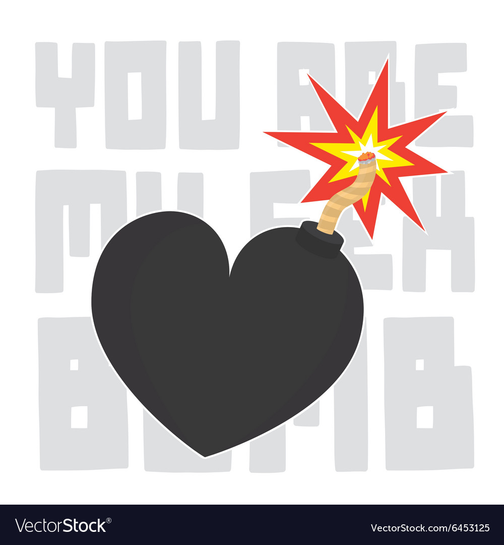 You are my sex bomb valentines day card vector