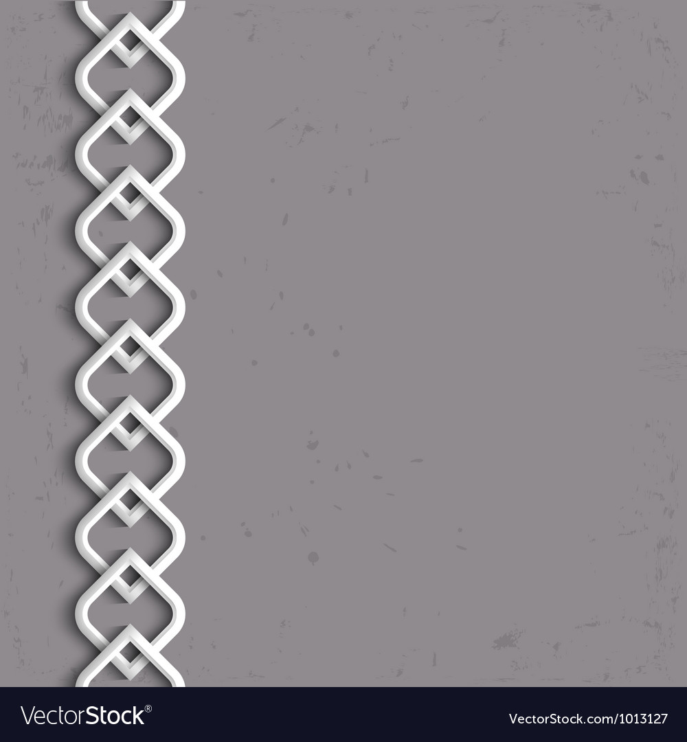 3d white border in arabic style vector