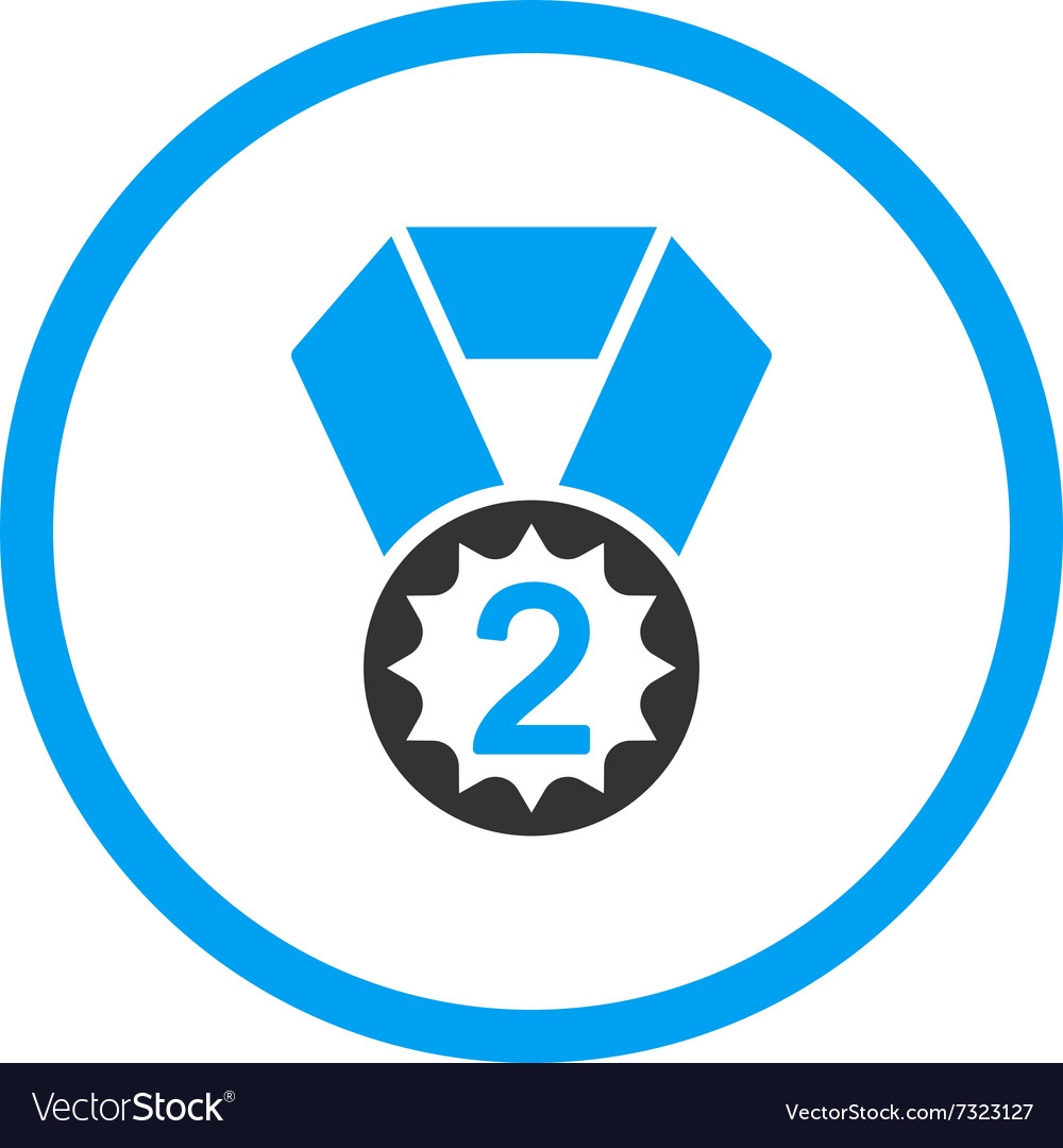 Second place medal icon vector