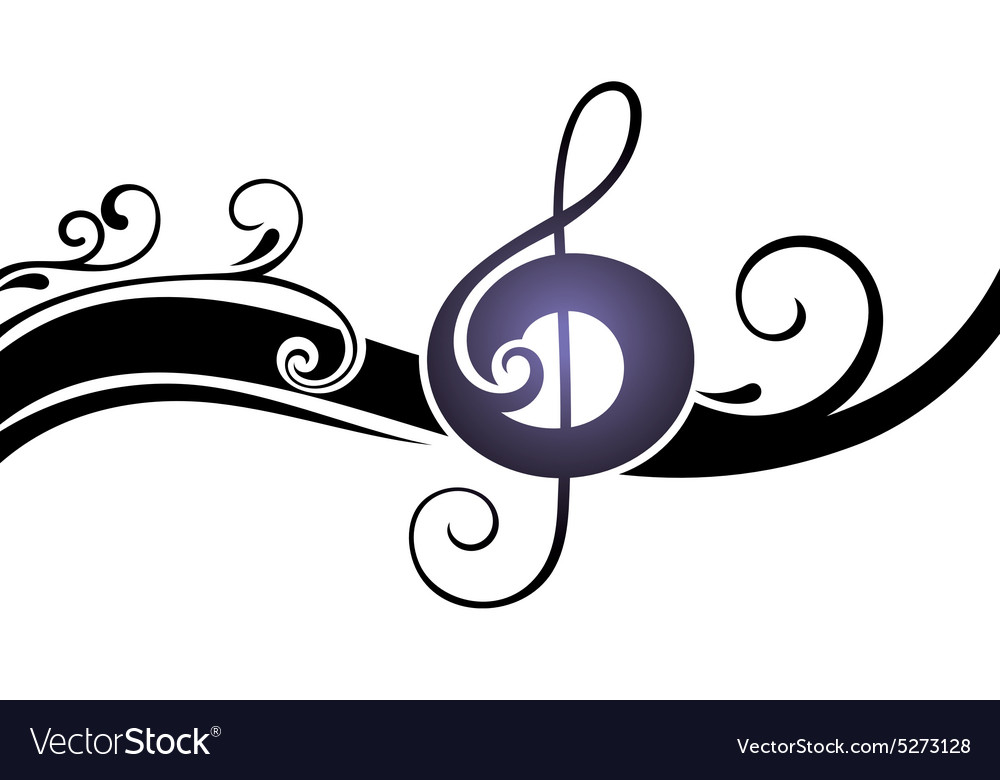 Symbols of music on a white ba vector