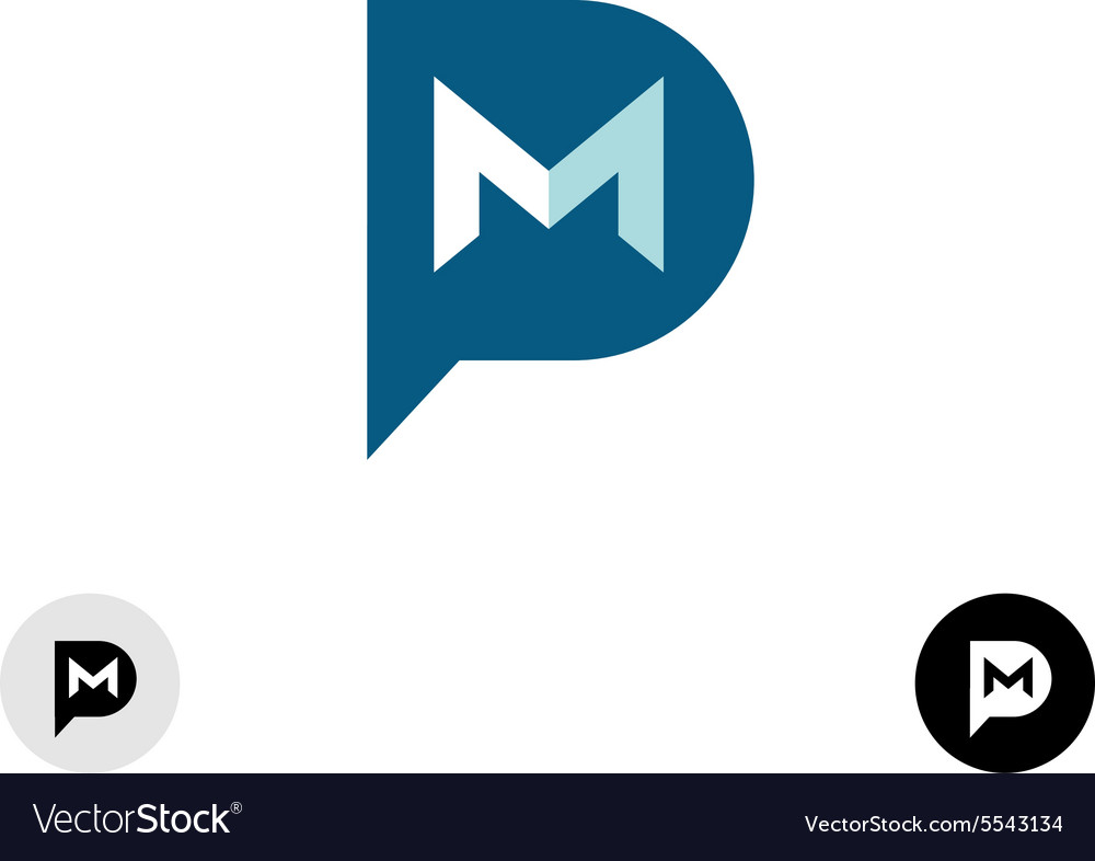 Pm letters logo vector