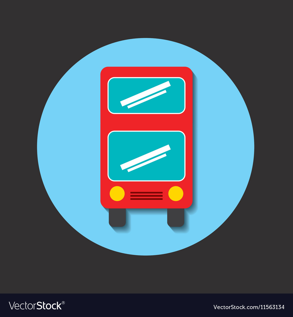 Transport bus vehicle icon vector