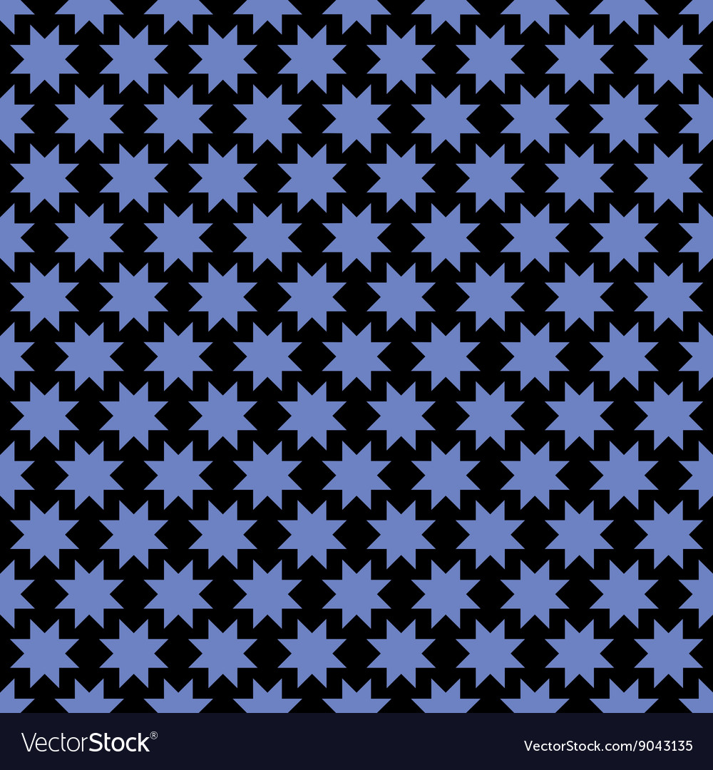 Abstract seamless pattern with stylized stars vector