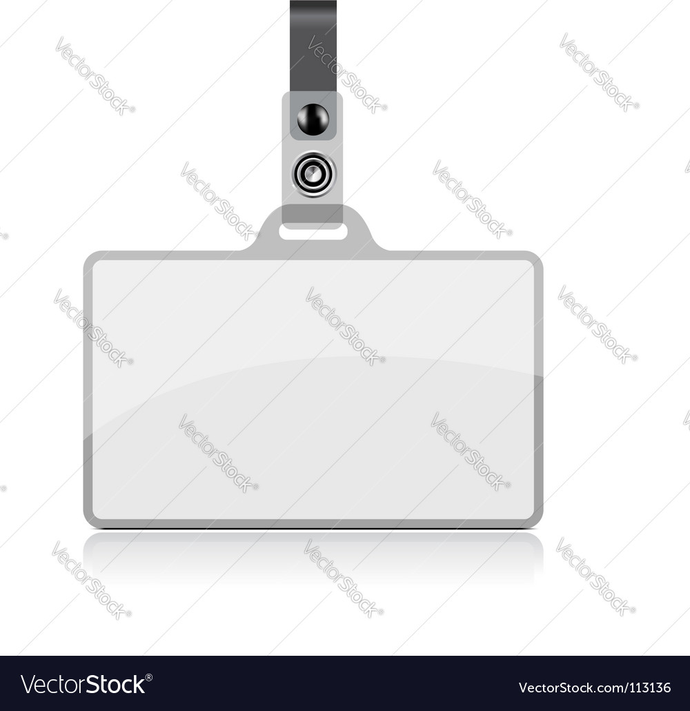 Name tag vector
