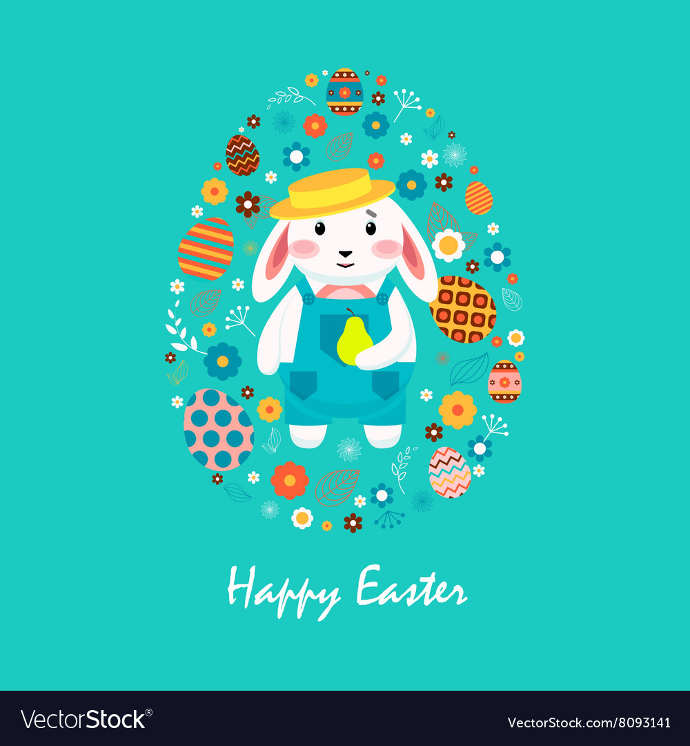 Happy easter 4 vector