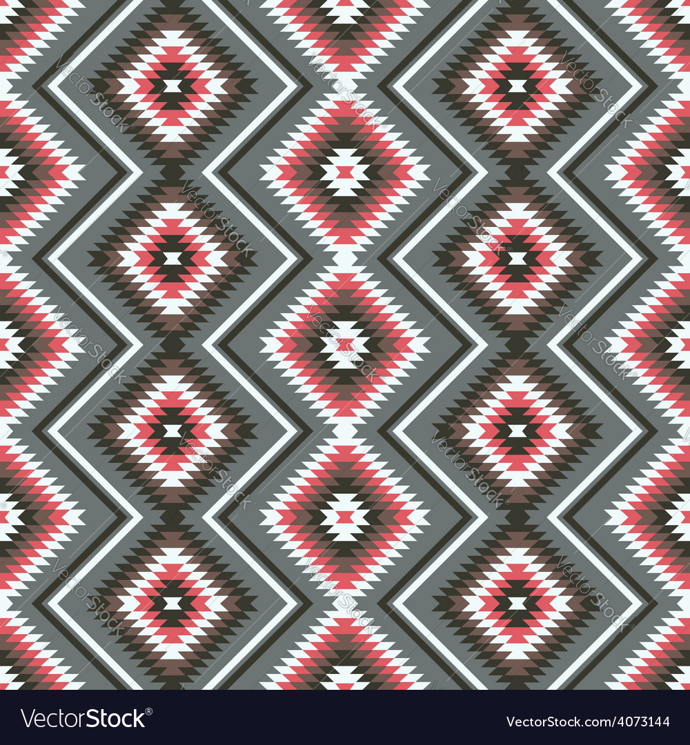 Ethnic ornament geometric seamless pattern vector