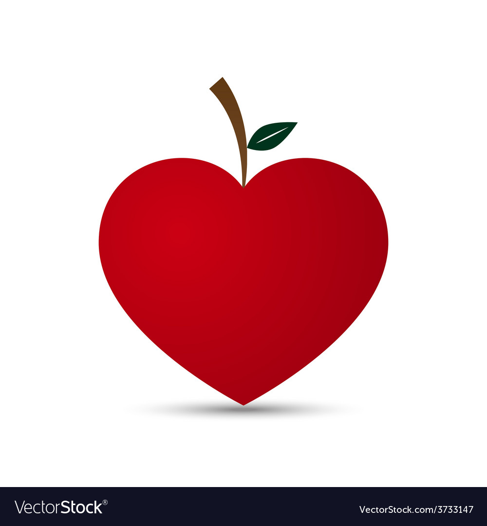 Love heart fruit design vector